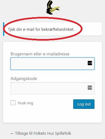 3)Tjek din e-mail for behræftelseslinket