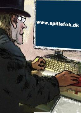 Mand som ser spillefolk.dk på computer.